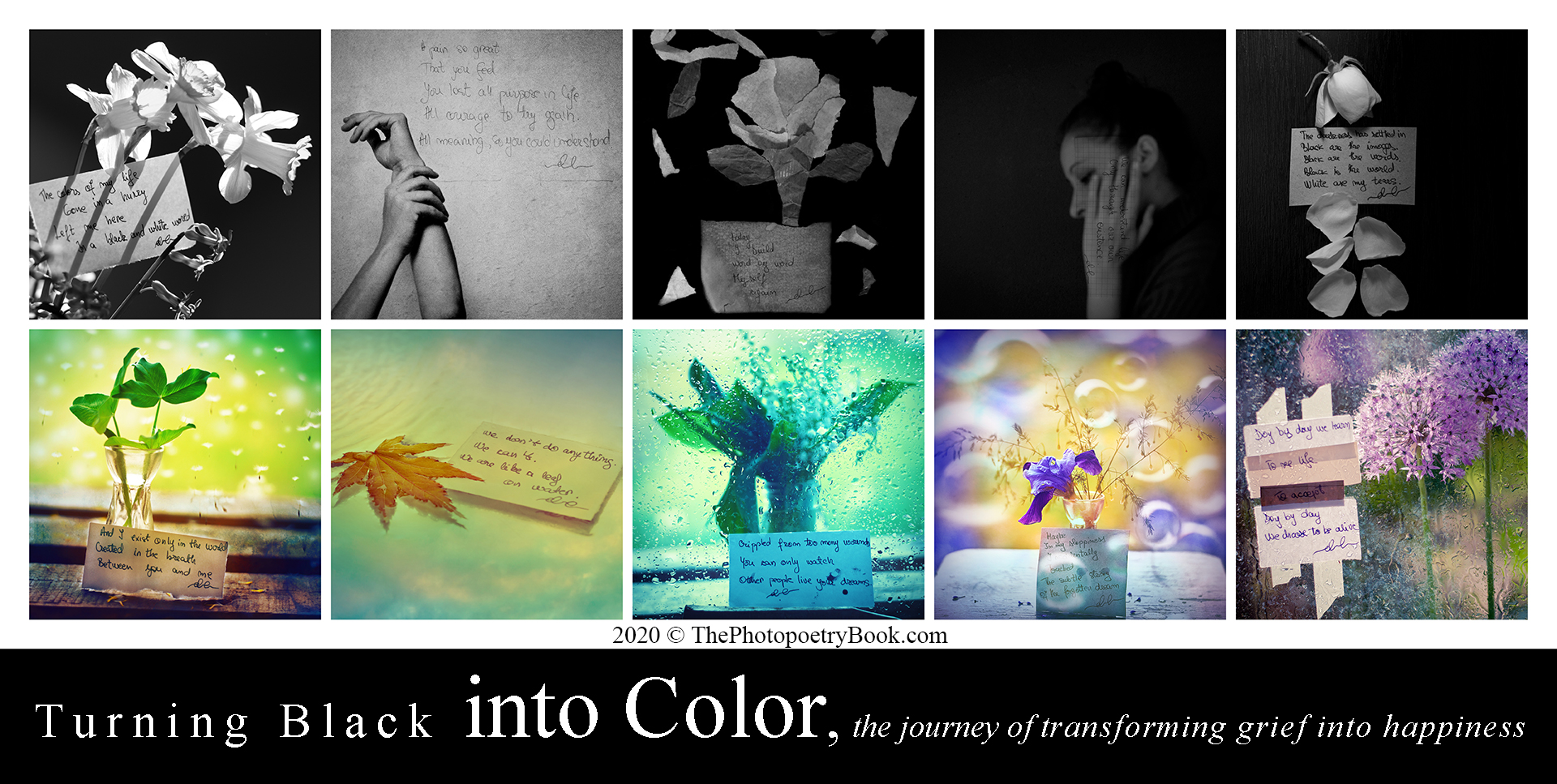 Turning Black into Color - turning grief into happiness