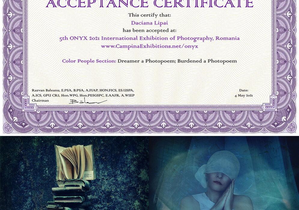 5th ONYX 2021 International Exhibition of Photography, Romania