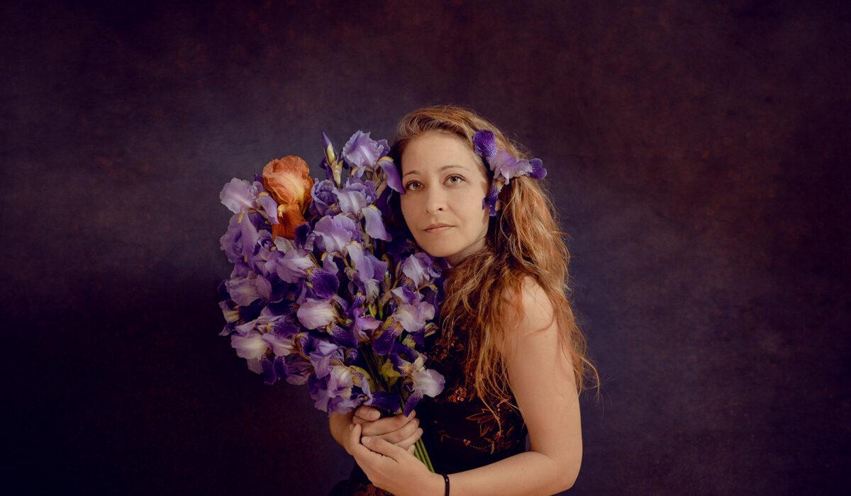 Daciana Lipai Profile with Irises
